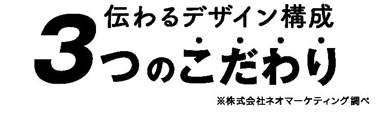 伝わるデザイン構成 3つのこだわり ※株式会社ネオマーケティング調べ